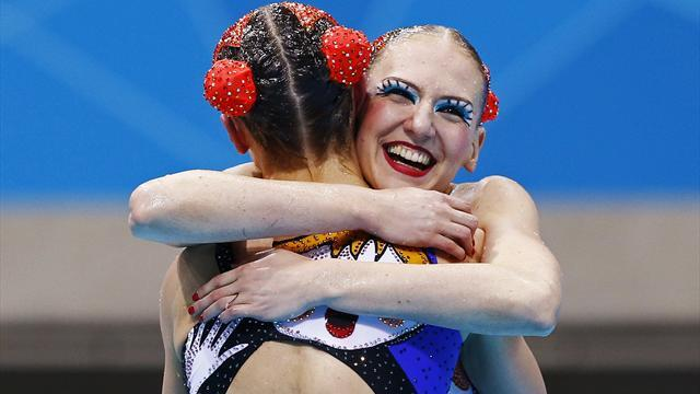 Russia win synchro duets gold at Olympics