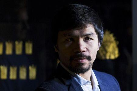 "Filipino boxing superstar Pacquiao watches the exhibition of Philippine Gold ""Treasures of Forgotten Kingdoms"" in New York"