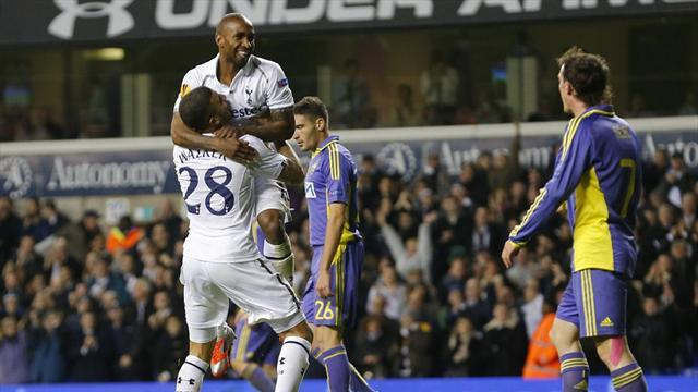 Europa League - Defoe fires Spurs to victory with hat-trick