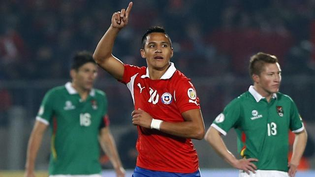 World Cup - Barcelona forward leads Chile rout of Iraq