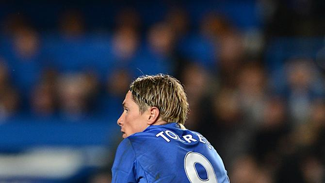 Fernando Torres received a second caution for diving at Stamford Bridge