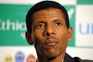 Ethiopian athletics legend Haile Gebrselassie, pictured in 2010, failed to qualify for the London Olympics here on Sunday as he could only finish seventh in the 10,000 metres
