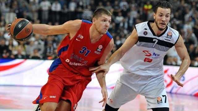 Basketball - Partizan sink CSKA as Real and Barca also win