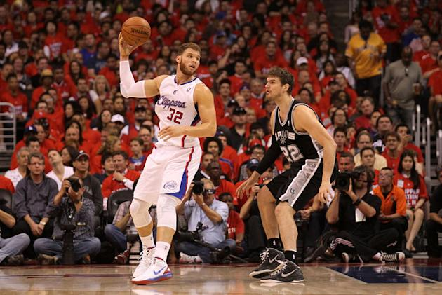 Blake Griffin #32 Of The Los Angeles Clippers Controls Getty Images