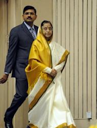 "Indian President Pratibha Patil at a International Women's day celebration and Woman Power award presentation in New Delhi on March 7. Patil commented after the launch of the Agni V that ""the work of Thomas in the Agni programme would hopefully inspire more women in choosing careers in science"""