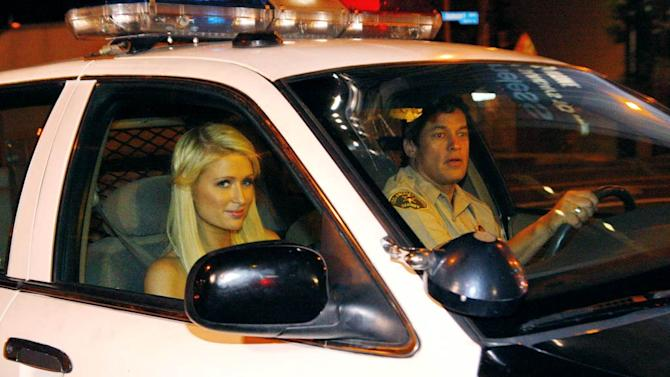Paris Hilton In Sherriffs Car