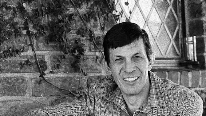 """FILE - In this Jan. 11, 1982 file photo, actor Leonard Nimoy poses for a photo in Los Angeles. Nimoy, famous for playing officer Mr. Spock in """"Star Trek"""" died Friday, Feb. 27, 2015 in Los Angeles of end-stage chronic obstructive pulmonary disease. He was 83. (AP Photo/Lennox McLendon, File)"""