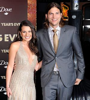 Ashton Kutcher Flirts With Lea Michele on First Red Carpet Post-Split