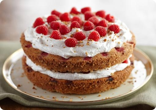 Hazelnut Raspberry Cream Cake