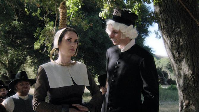 """This publicity image released by Comedy Central shows Winona Ryder, left, and Michael Cera in a scene from """"Drunk History,"""" airing Tuesdays at 10 p.m. on Comedy Central. (AP Photo/Comedy Central)"""