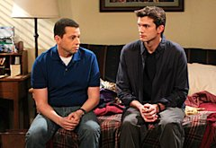 Two and a Half Men, Jon Cryer and Ashton Kutcher  | Photo Credits: Sonja Flemming/CBS