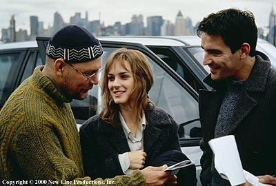 Director Janusz Kaminski , Winona Ryder and Ben Chaplin on the set of New Line's Lost Souls