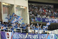 IPL fans show their support during the 2010 DLF Indian Premier League T20 semi final match between Mumbai Indians and Royal Challengers Bangalore play...