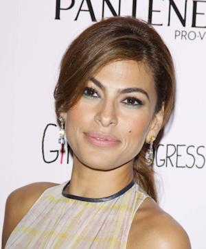 Eva Mendes arrives at the Los Angeles special screening of 'Girl In Progress' held at DGA Theater on May 2, 2012 in Los Angeles -- Getty Images