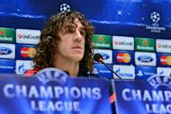 Barcelona defender and captain Carles Puyol gives a press conference on the eve of the Champions League match against AC Milan, on February 19, 2013. The veracity of AC Milan's resurgence in Italy's Serie A is set to be put to the test by Barcelona on Wednesday