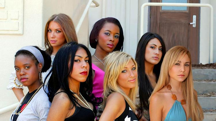 Stassi, Shavon and Michelle, Kiana, Gisbelle, Camille and Brittany in Queen Bees.