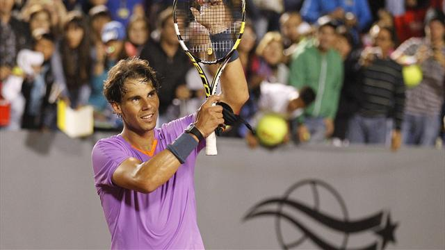 Tennis - Improving Nadal makes final in Chile