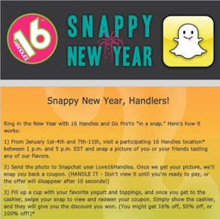 What Can Snapchat Do For Your Business In 2014? image snappy new year facebook grab 2