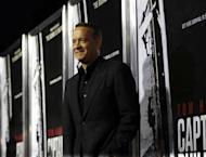 "Cast member Tom Hanks poses at the premiere of ""Captain Phillips"" at the Academy of Motion Picture Arts and Sciences in Beverly Hills, California September 30, 2011. REUTERS/Mario Anzuoni"