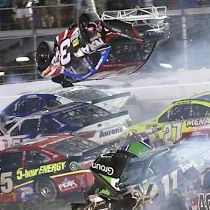 NASCAR race ends with scary crash