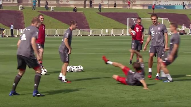 VIDEO: Watch Bayern Munich Ace Resort to Amusing Tactics During 'Piggy in the Middle' Training Drill