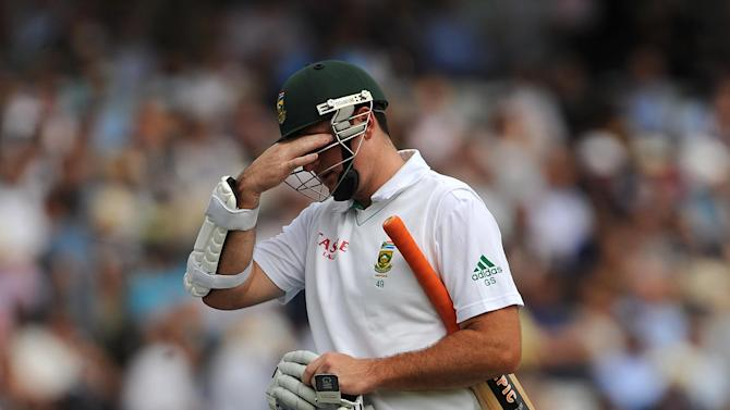 Graeme Smith fell for a duck on Sunday morning