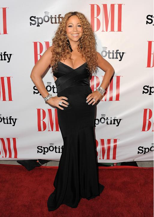 Mariah Carey arrives at the BMI Urban Awards on Friday, Sept. 7, 2012 in Beverly Hills, Calif. (Photo by Jordan Strauss/Invision/AP)