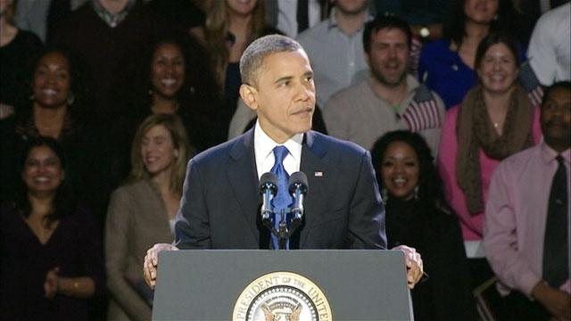 President Obama Victory Speech Upstaged by 'Hair Flag Lady'