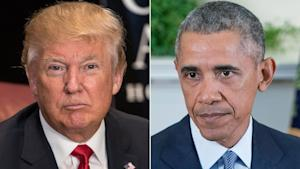President Obama and Donald Trump