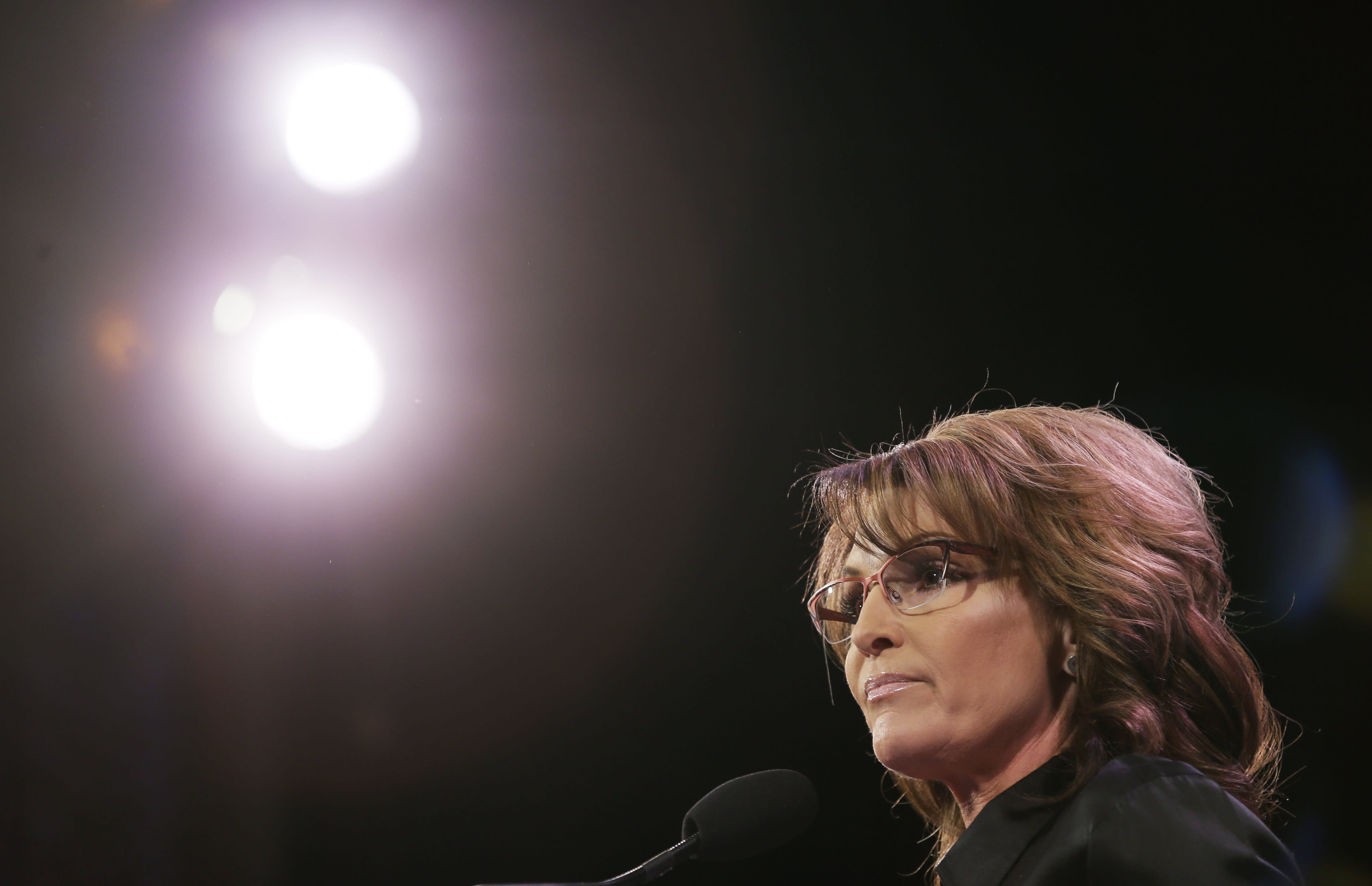 Palin receives plaudits from pro-Hillary Clinton group