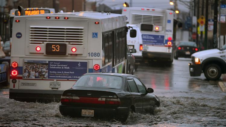 Heavy Rains Create Flooding In Chicago