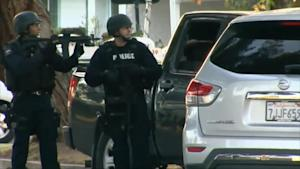 Neighbors React to Weapons in Shooting Suspects'…
