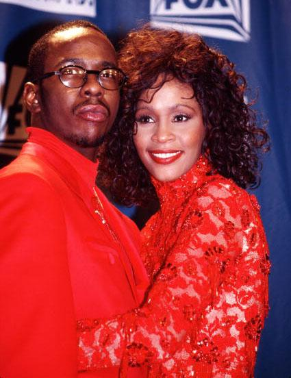 Bobby Brown and Whitney Houston at the Billboard Music Awards in Universal City, California (Photo by Chris Walter/WireImage)