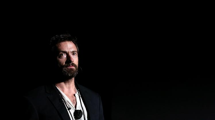In this Feb. 22, 2013, photo, actor Hugh Jackman appears during rehearsals for the 85th Academy Awards in Los Angeles. The Academy Awards are scheduled for Sunday, Feb. 24, 2013. (Photo by Matt Sayles/Invision/AP)