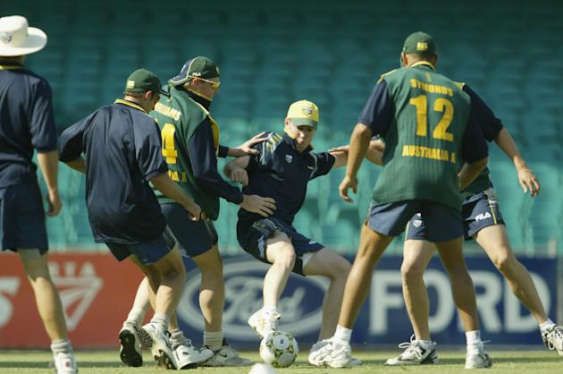 Michael Clarke of Australia in action
