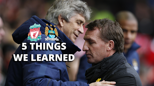 Liverpool v Manchester City: 5 things we learned