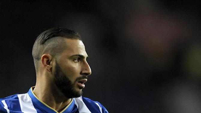 FC Porto's Ricardo Quaresma looks on during their 3-0 victory over Vitoria Setubal in a Portuguese League soccer match at the Dragao Stadium in Porto, Portugal, Sunday, Jan. 19, 2014
