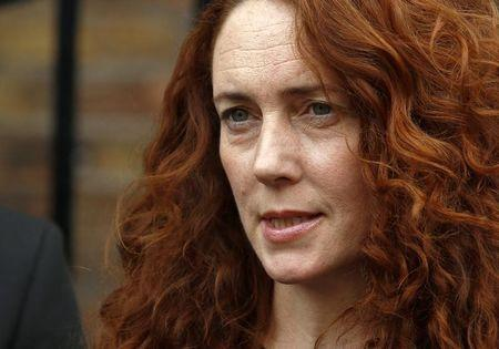 Former News International chief executive Rebekah Brooks makes a statement to the media in London