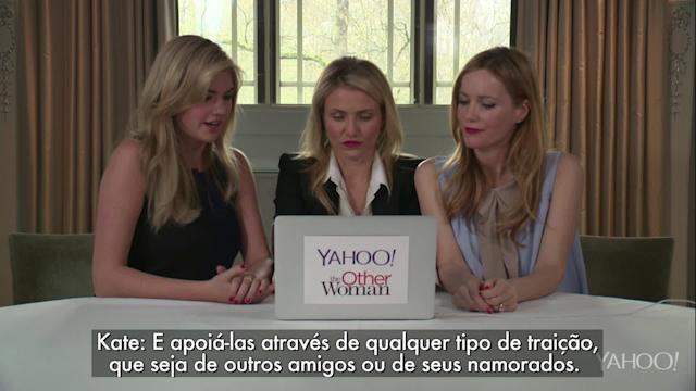 Atrizes respondem perguntas de internautas sobre 'The Other Woman'