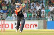 England batsman Jonathan Bairstow plays a shot during the second one-day international between India and England at the Ferozeshah Kotla stadium in New Delhi in October 2011. Bairstow was named in an England Test squad for the first time Sunday when he was included in a 13-man party for the series opener against the West Indies at Lord's starting Thursday