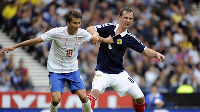 Hearts defender Andy Webster played in both of Scotland's World Cup qualifiers