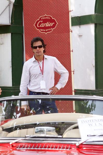 MUMBAI (BOMBAY), INDIA - NOVEMBER 01: Former Captain of Pakistan Cricket Team Imran Khan  attends the 'Travel With Style' Concours at Royal Western India Turf Club on November 1, 2008 in Mumbai (Bomba