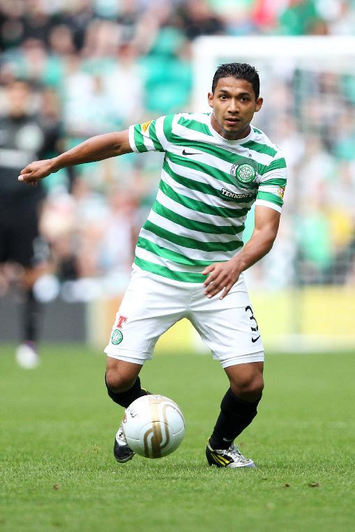Emilio Izaguirre came off injured in Sunday's clash against Dundee United