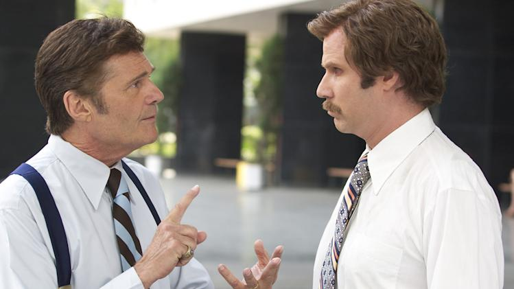 Fred Willard Will Ferrell Anchorman: The Legend of Ron Burgundy Production Stills DreamWorks 2003