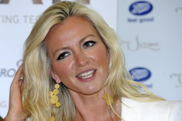 Michelle Mone in a British holiday-themed summer garden promoting her new tanning brand- UTan at Westfield White City London, England - 24.05.12 Credit: (Mandatory): WENN.com