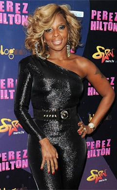 "Mary J. Blige Parties at Perez Hilton's ""One Night in New York City"""