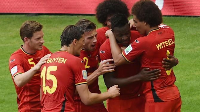 World Cup - Last-gasp Origi fires Belgium into the last 16
