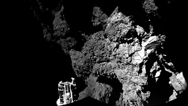 This image, released the ESA, shows Philae's landing spot.