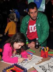 Adam Sandler at the PS Arts Express Yourself event  -- Access Hollywood