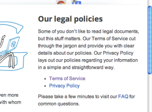 Five Essential Tips for Creating Your Website's Terms of Service image 6 google screenshot